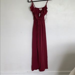Burgundy Everly wrap dress from Nordstroms